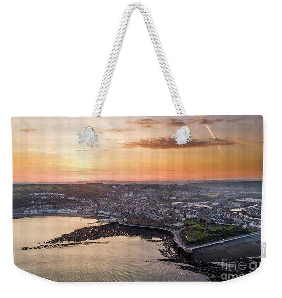 Daybreak Over Aberystwyth Wales Weekender Tote Bag