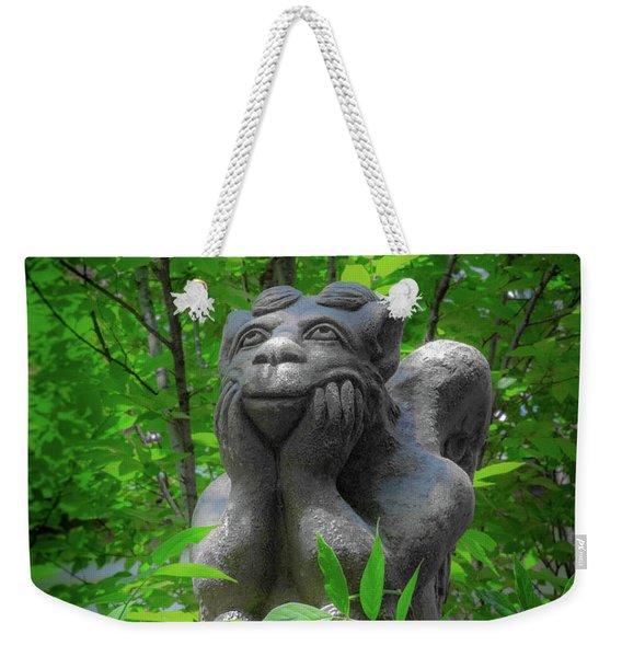 Daydreaming Gargoyle Weekender Tote Bag
