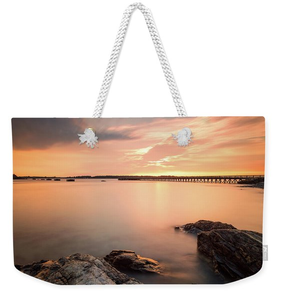 Weekender Tote Bag featuring the photograph Days End Daydream  by Jeff Sinon