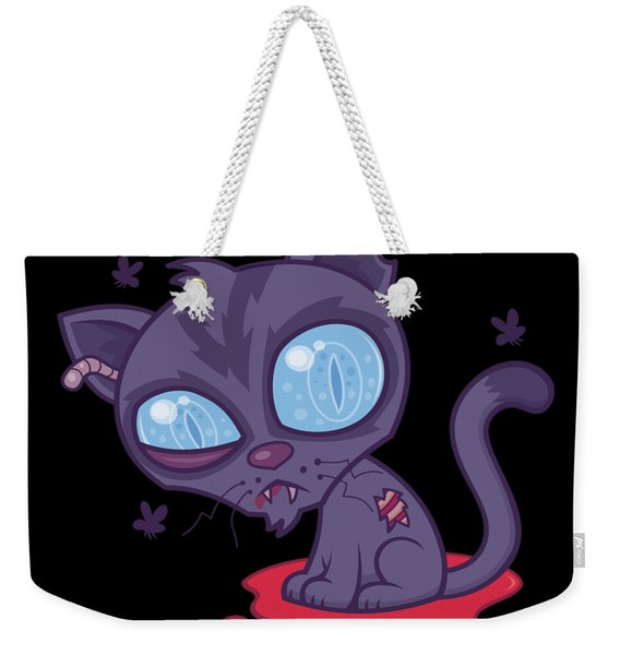 Dead Cold Angry Zombie Kitty Weekender Tote Bag