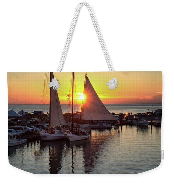 Deal Island Skipjack Race Sunset  Weekender Tote Bag