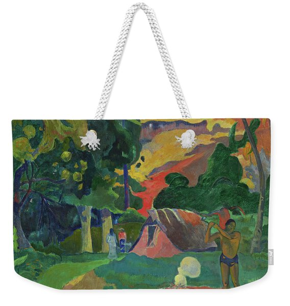 Death, Landscape With Peacocks, 1892 Weekender Tote Bag