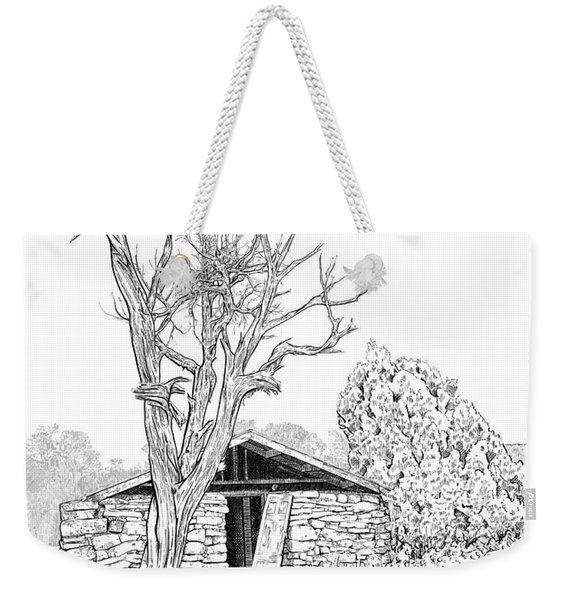 Decay Of Calamity The Half Life Of A Dream Black And White  Weekender Tote Bag