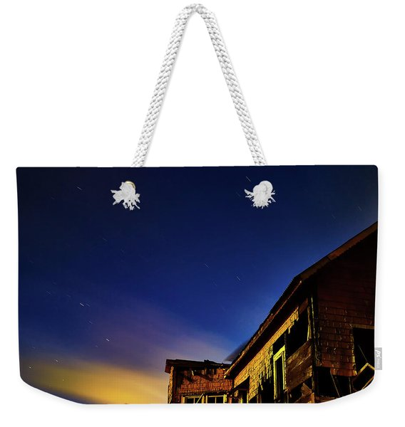 Decaying House In The Moonlight Weekender Tote Bag