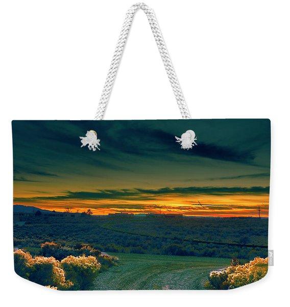 December Evening Weekender Tote Bag