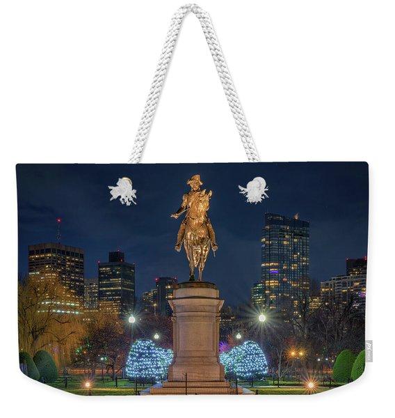 December Evening In Boston's Public Garden Weekender Tote Bag