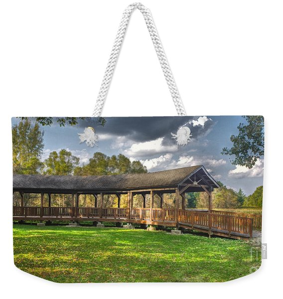Deck At Pickerington Ponds Weekender Tote Bag