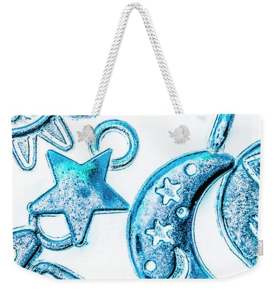 Deep Blue Space Weekender Tote Bag