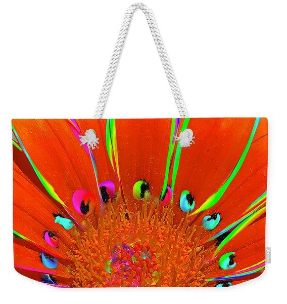 Deep Coral Bloom  Weekender Tote Bag