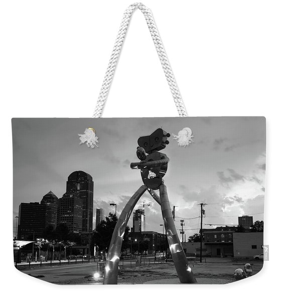 Deep Ellum Traveling Man Monochrome 061919 Weekender Tote Bag