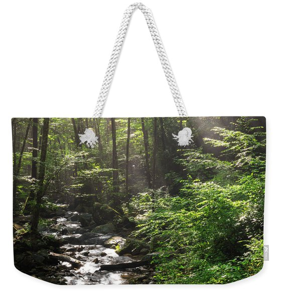 Deep In The Forrest - Sun Rays Weekender Tote Bag