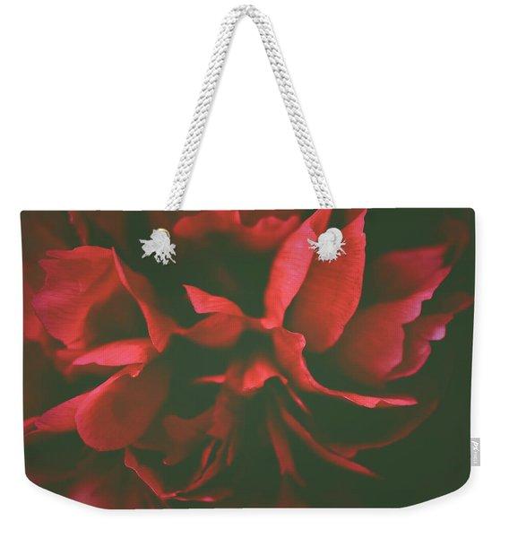 Deep Red Weekender Tote Bag