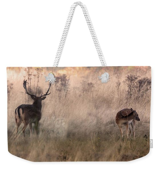 Deer In The Grasses Weekender Tote Bag
