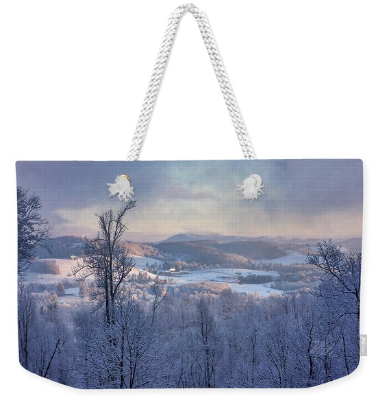Deer Valley Winter View Weekender Tote Bag