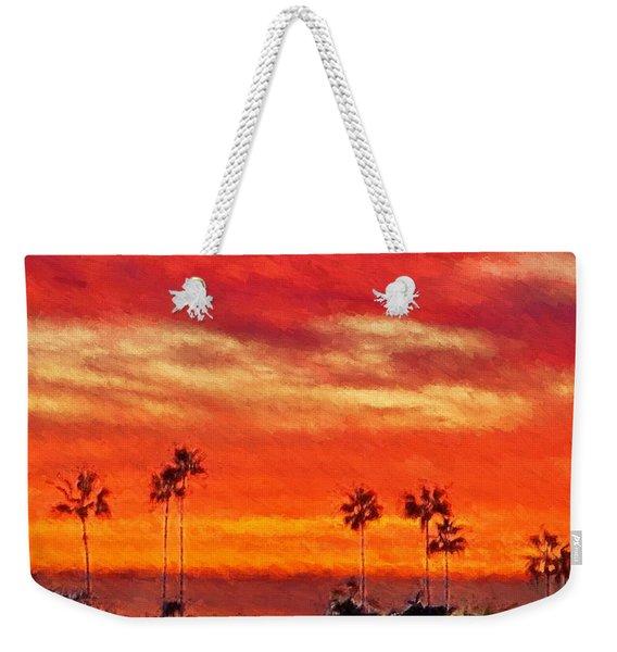 Del Mar Sunset Weekender Tote Bag