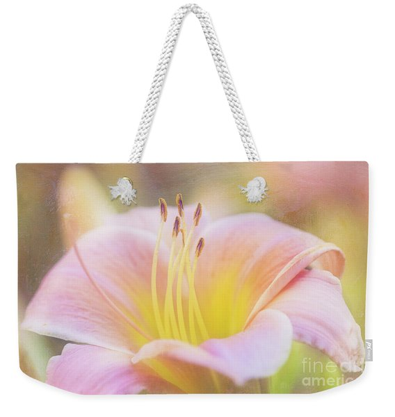 Delicate Pink Daylily Weekender Tote Bag