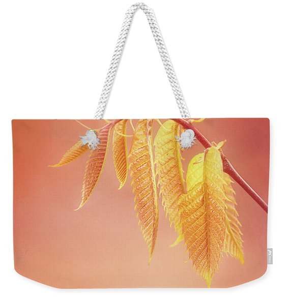 Delightful Baby Chestnut Leaves Weekender Tote Bag