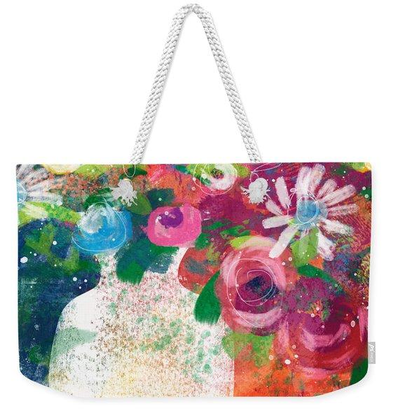 Delightful Bouquet 2- Art By Linda Woods Weekender Tote Bag