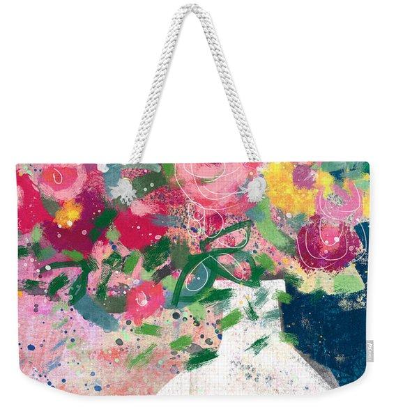 Delightful Bouquet- Art By Linda Woods Weekender Tote Bag
