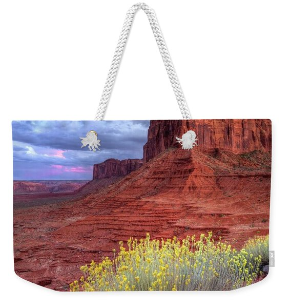 Desert Bouquets On A Stormy Eve Weekender Tote Bag