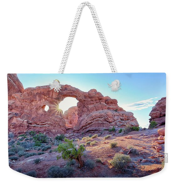 Desert Sunset Arches National Park Weekender Tote Bag