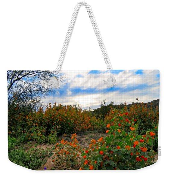 Desert Wildflowers In The Valley Weekender Tote Bag