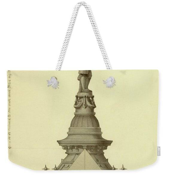 Design For City Hall Tower Weekender Tote Bag