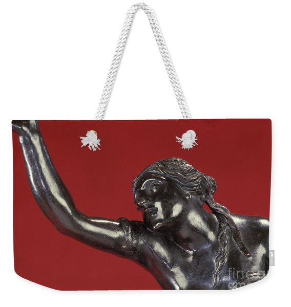 Detail Of Bronze Sculpture Of The Abduction Of Helen Weekender Tote Bag