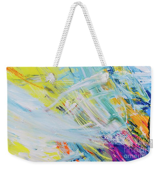 Detail Of Brush Strokes Of Random Colors To Use As Background An Weekender Tote Bag