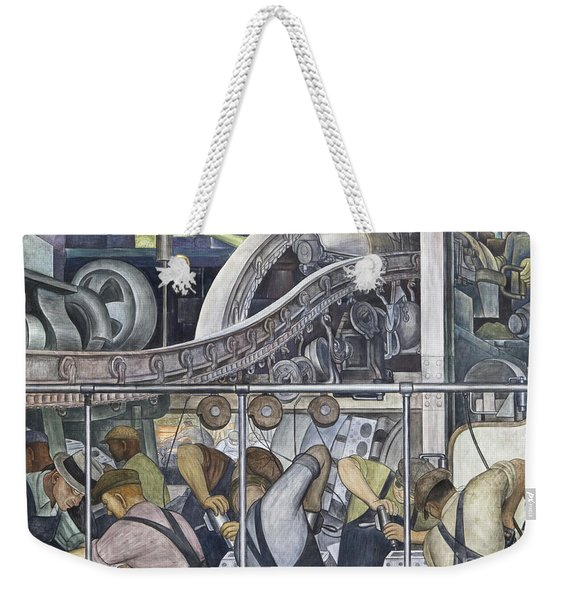 Detroit Industry, North Wall By Diego Rivera Detail Weekender Tote Bag