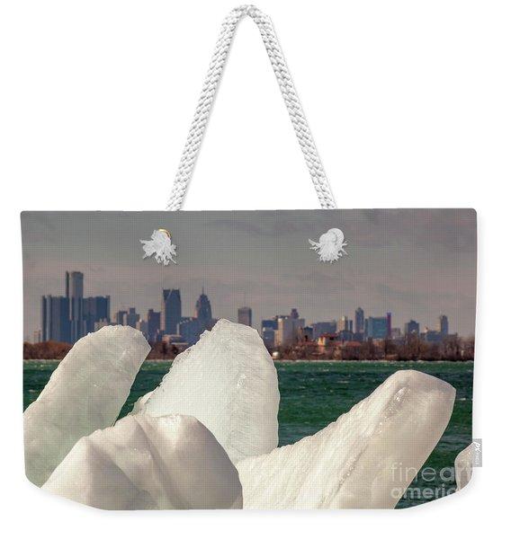 Detroit River Ice Weekender Tote Bag