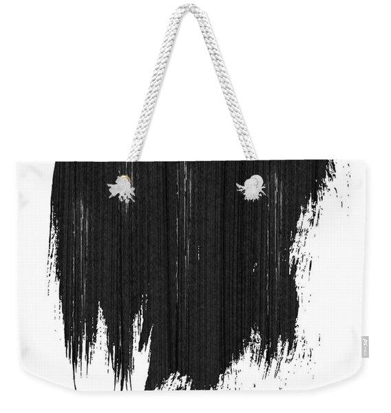 Detroit Skyline Brush Stroke Black Weekender Tote Bag
