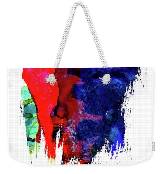 Detroit Skyline Brush Stroke Watercolor   Weekender Tote Bag