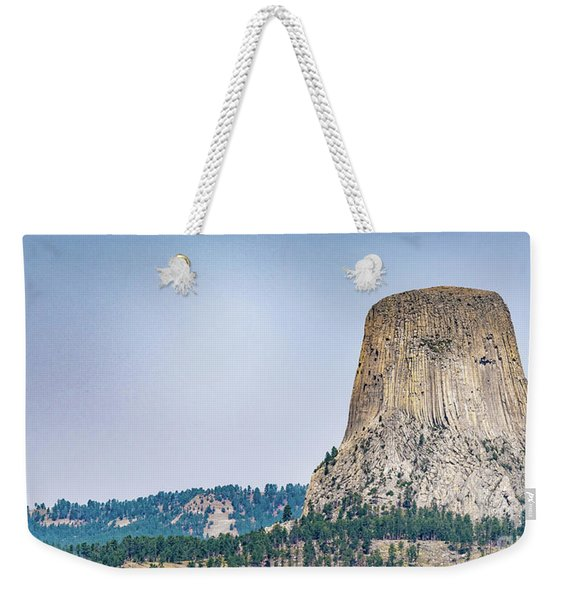 Weekender Tote Bag featuring the photograph Devils Tower by Dheeraj Mutha