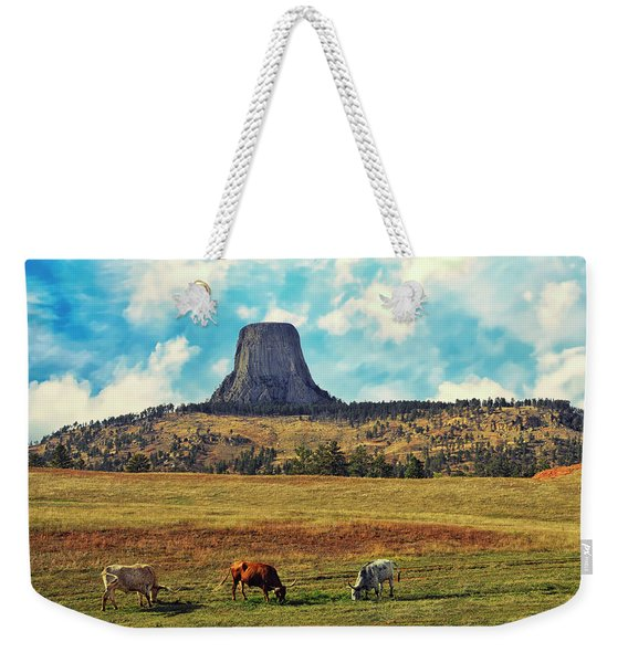 Devil's Tower Wyoming Weekender Tote Bag
