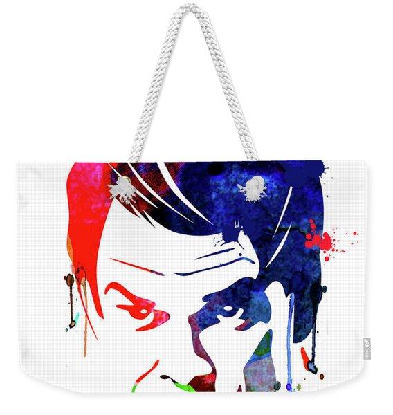 Dexter Watercolor Weekender Tote Bag