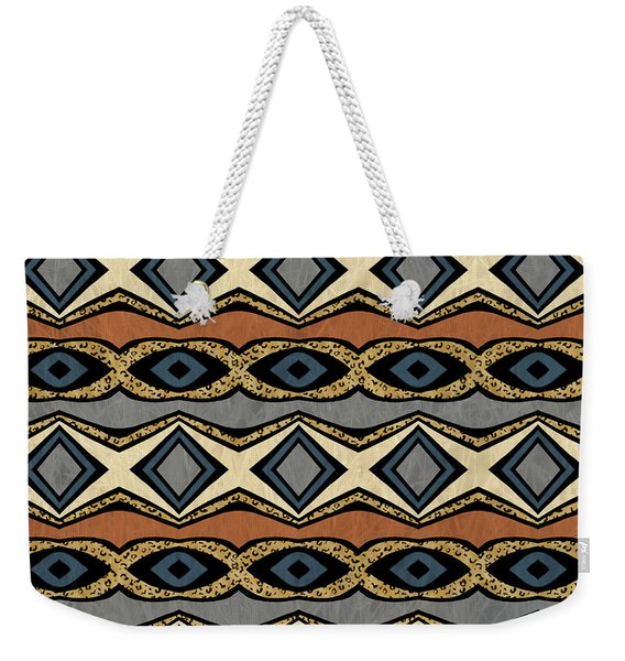 Diamond And Eye Motif With Leopard Accent Weekender Tote Bag