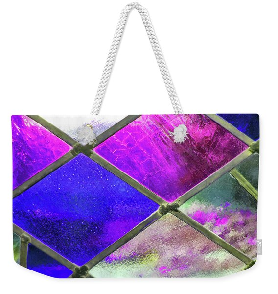 Weekender Tote Bag featuring the photograph Diamond Pane Glass by JAMART Photography