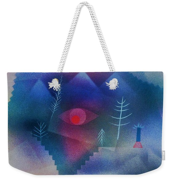 Digital Remastered Edition - Glance At Landscape - Original Blue Weekender Tote Bag