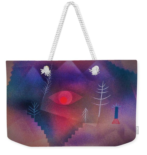 Digital Remastered Edition - Glance At Landscape - Original Purple Weekender Tote Bag
