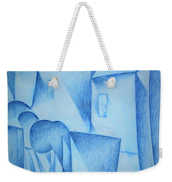 Digital Remastered Edition - Houses In Paris, Place Ravignan - Original Blue Weekender Tote Bag
