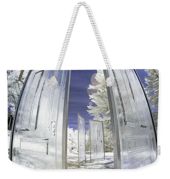 Dimensional Doors Weekender Tote Bag