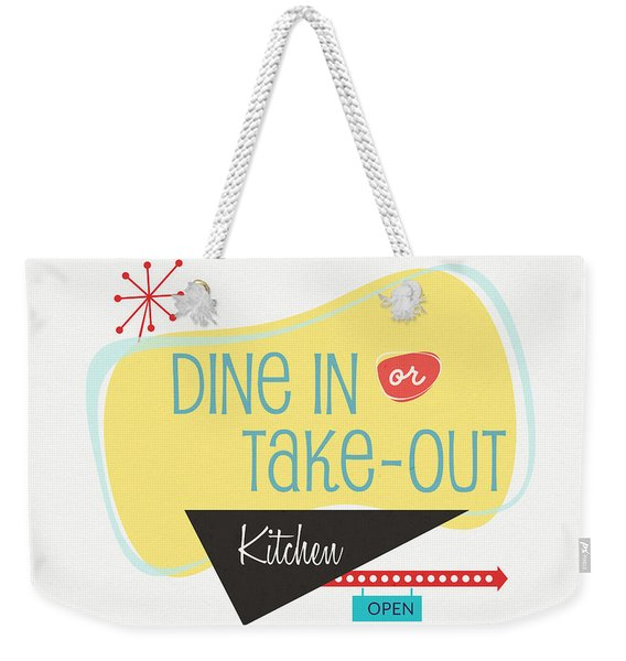 Dine In Kitchen - Art By Linda Woods Weekender Tote Bag