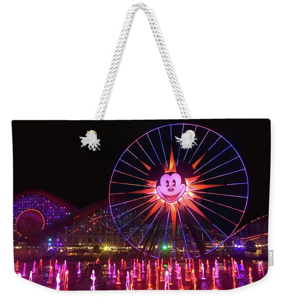 Disney World Ferris Wheel Night View Weekender Tote Bag