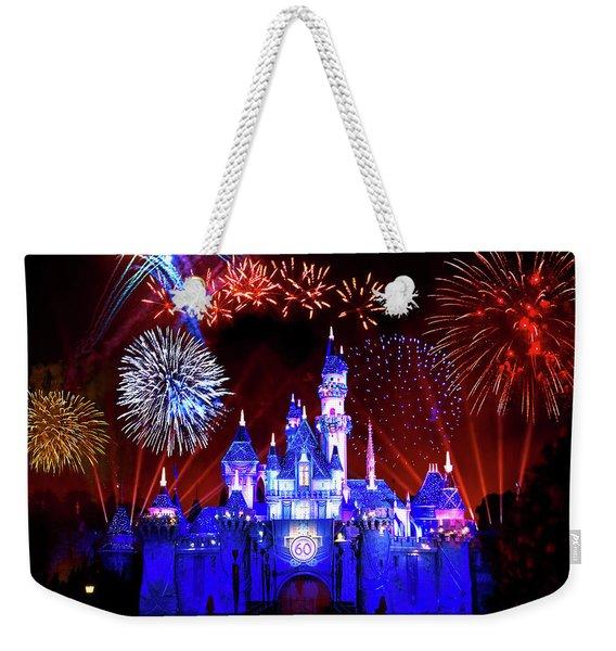 Disneyland 60th Anniversary Fireworks Weekender Tote Bag