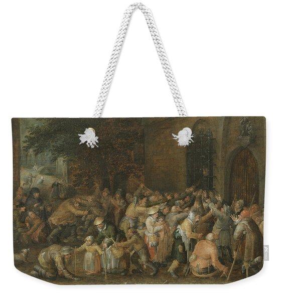 Distributing Alms Weekender Tote Bag