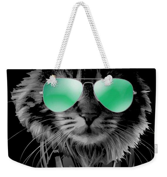Dj Furry Cat Weekender Tote Bag