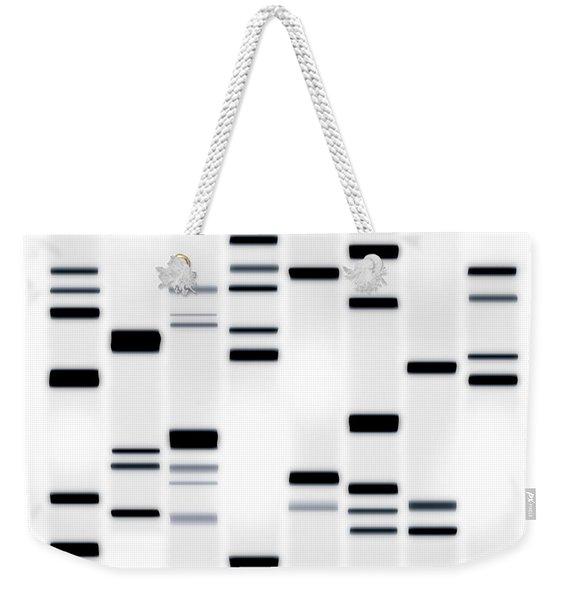 Dna Art Black On White Weekender Tote Bag