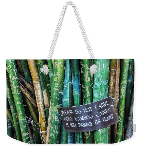 Do Not Carve Weekender Tote Bag