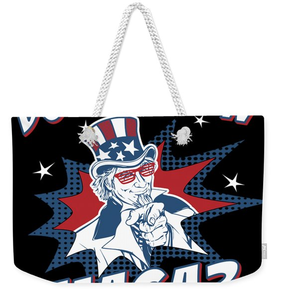 Weekender Tote Bag featuring the digital art Do You Even Maga by Flippin Sweet Gear